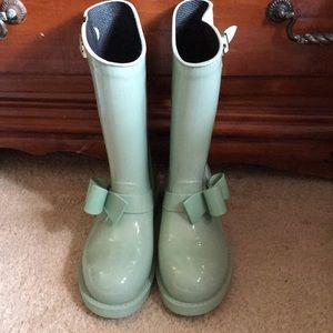 Red Valentino Mint Green Rain ☔️ Boots Sz 38/7.5